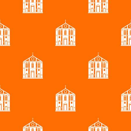 Church pattern vector orange Illustration