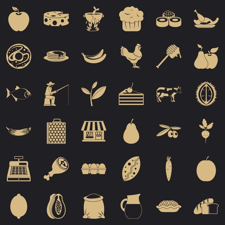 Verdant icons set. Simple set of 36 verdant vector icons for web for any design