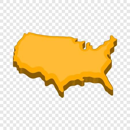 American map icon, cartoon style
