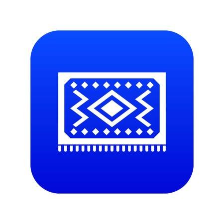 Turkish carpet icon digital blue for any design isolated on white vector illustration