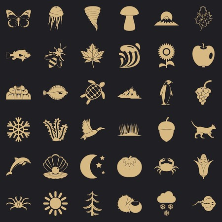 Inborn icons set. Simple set of 36 inborn vector icons for web for any design Foto de archivo - 130244466