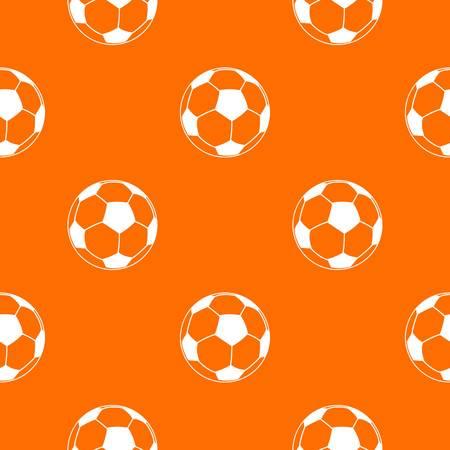 Football pattern vector orange