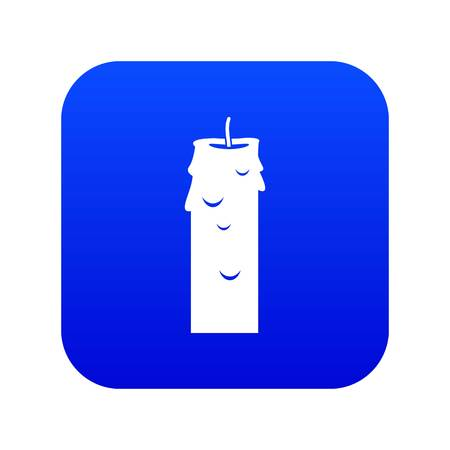 Paraffin candle icon digital blue