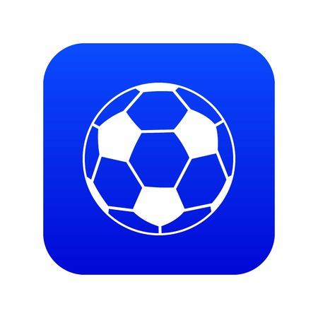 Soccer ball icon digital blue Illustration