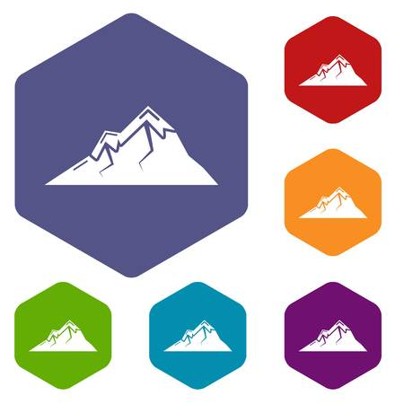 Mountains icon. Simple illustration of mountains vector icon for web