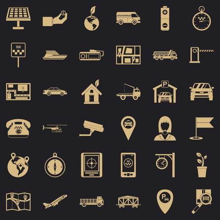 Aeronavigation icons set. Simple set of 36 aeronavigation vector icons for web for any design Ilustrace