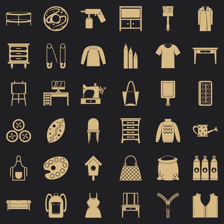 Garment icons set. Simple set of 36 garment vector icons for web for any design