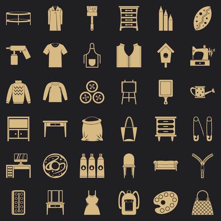 Item of clothing icons set. Simple set of 36 item of clothing vector icons for web for any design Illustration
