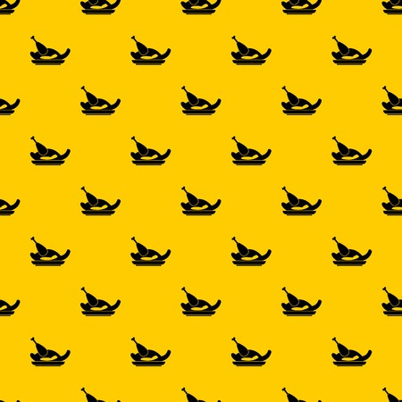 Fried chicken pattern seamless vector repeat geometric yellow for any design