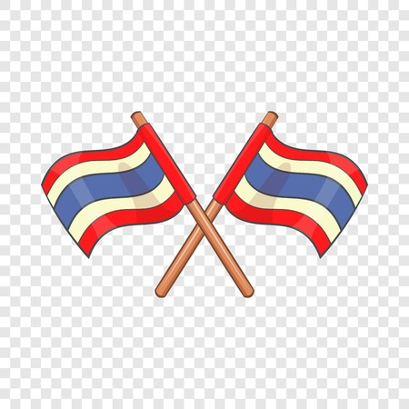 Flags of Thailand icon. Cartoon illustration of flag of Thailand vector icon for web design  イラスト・ベクター素材