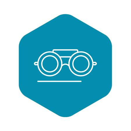 Welder glasses icon. Outline welder glasses vector icon for web design isolated on white background