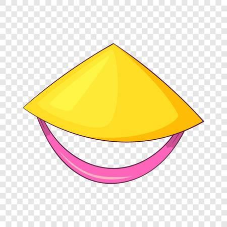 Vietnamese hat icon. Cartoon illustration of vietnamese hat vector icon for web design