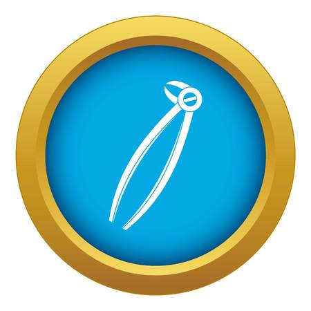 Tooth dentist forceps icon blue vector isolated on white background for any design 矢量图像