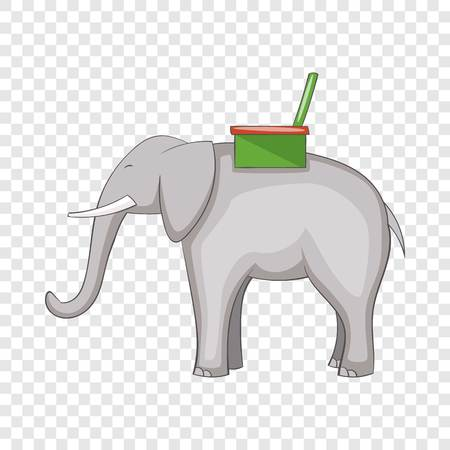 Elephant icon. Cartoon illustration of elephant vector icon for web design