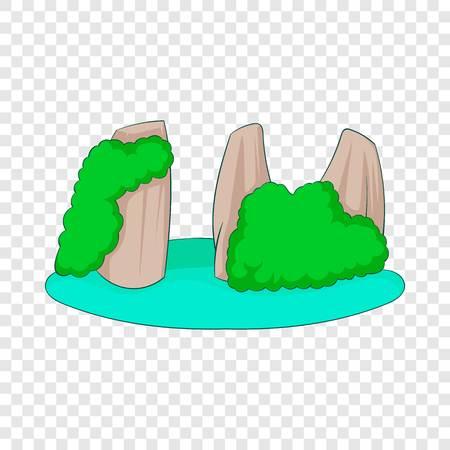 Rocks in the sea icon. Cartoon illustration of rocks in the sea vector icon for web design