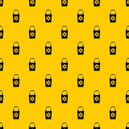 Bucket pattern seamless vector repeat geometric yellow for any design Illustration