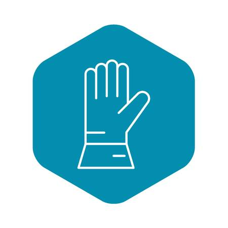 Welder glove icon. Outline welder glove vector icon for web design isolated on white background 写真素材 - 130244784