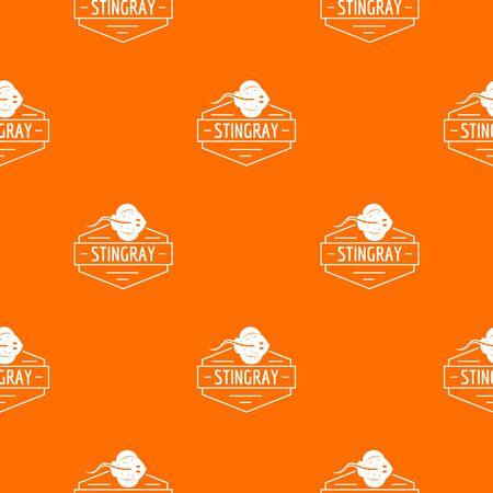 Stingray pattern vector orange
