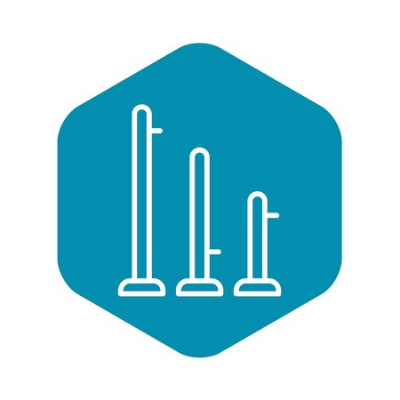 Scaffold bar icon, outline style