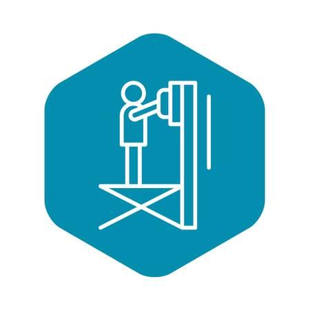 Scissor lift platform icon. Outline illustration of scissor lift platform vector icon for web design isolated on white background
