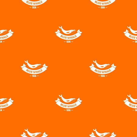 Blue whale pattern vector orange