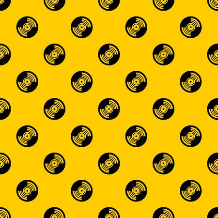 Gramophone vinyl LP record pattern seamless vector repeat geometric yellow for any design 일러스트