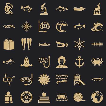High sea icons set. Simple set of 36 high sea vector icons for web for any design