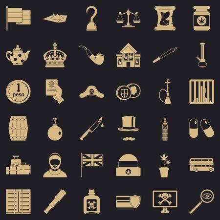Fault icons set, simple style Standard-Bild - 124535748