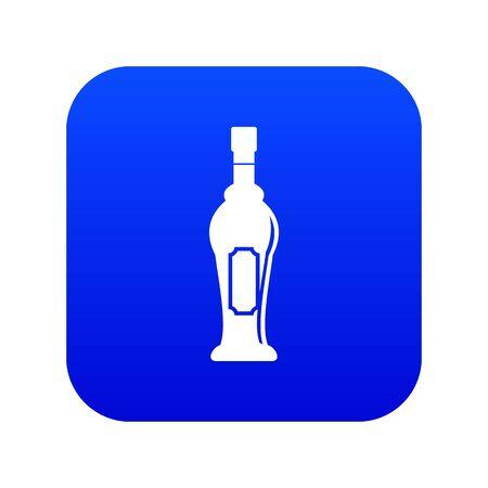 Alcohol bottle icon digital blue