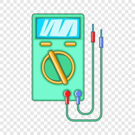 Digital multimeter icon. Cartoon illustration of digital multimeter vector icon for web design