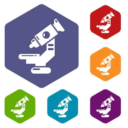 Microscope icon. Simple illustration of microscope vector icon for web
