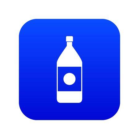 Water bottle icon digital blue