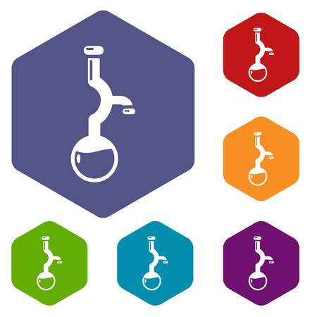 Bulb chemistry icon. Simple illustration of bulb chemistry vector icon for web
