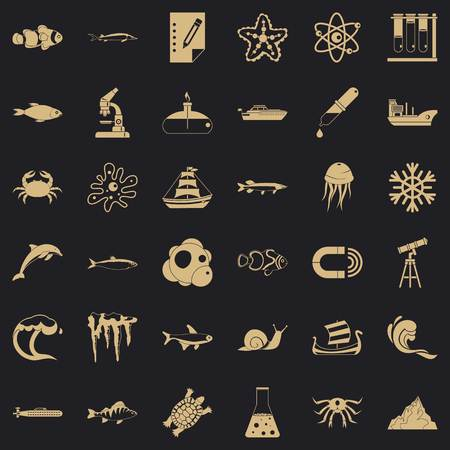 Source icons set. Simple set of 36 source vector icons for web for any design