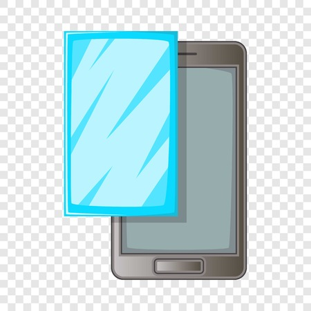 Smartphone with protector film icon. Cartoon illustration of smartphone with protector film vector icon for web design Ilustração