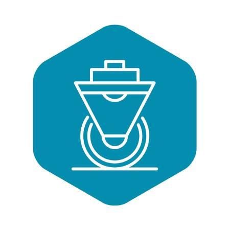 Scaffold wheel platform icon. Outline illustration of scaffold wheel platform vector icon for web design isolated on white background Иллюстрация