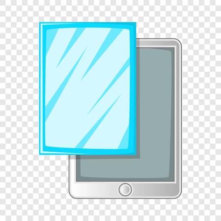 Screen protector film for tablet icon. Cartoon illustration of screen protector film for tablet vector icon for web design Ilustração