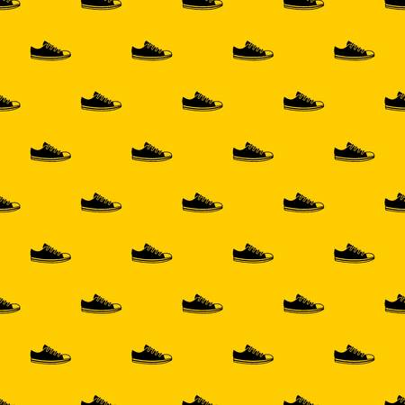 Canvas sneaker pattern seamless vector repeat geometric yellow for any design Stock Illustratie