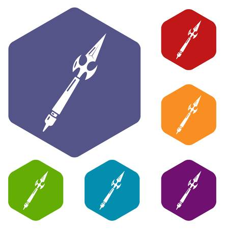 Spear battle icon. Simple illustration of spear battle vector icon for web Ilustração
