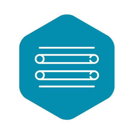 Scaffold metal bars icon, outline style Illustration