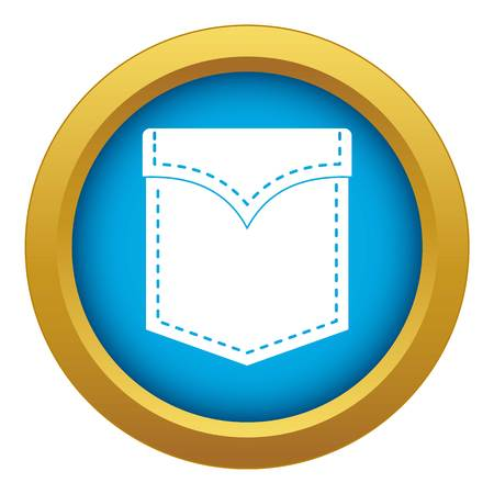 Black valve pocket icon blue vector isolated on white background for any design