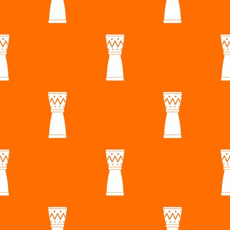 Tamtam pattern vector orange