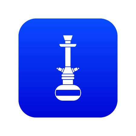 Arabic hookah icon digital blue for any design isolated on white vector illustration