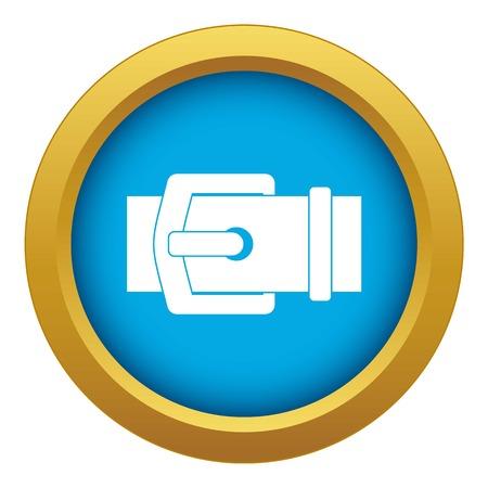 Elegant belt icon blue vector isolated on white background for any design Çizim