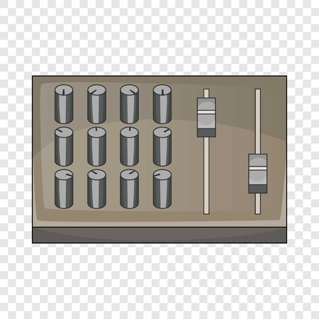 Sound mixer pult icon. Cartoon illustration of sound mixer pult vector icon for web design