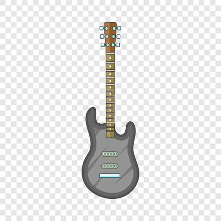 Electric guitar icon. Cartoon illustration of electric guitar vector icon for web design