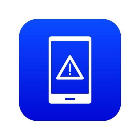 Not working phone icon digital blue