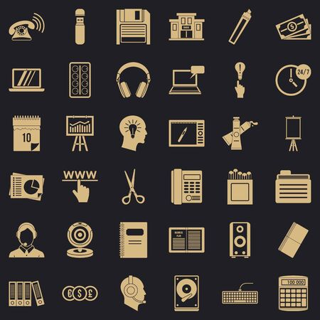 Record keeping icons set. Simple set of 36 record keeping vector icons for web for any design Archivio Fotografico - 130245005