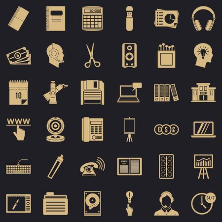 Paper version icons set. Simple set of 36 paper version vector icons for web for any design Archivio Fotografico - 130245016