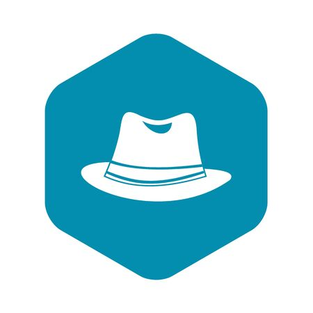 Hat icon in simple style on a white background vector illustration
